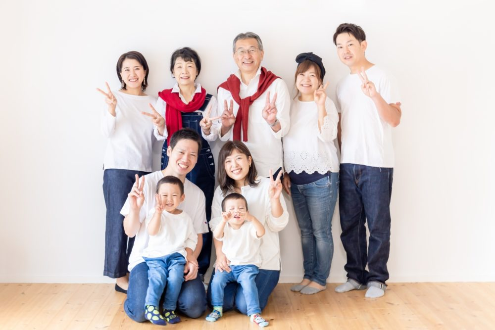 家族写真 シニア 還暦祝い ハウススタジオ 海老名 厚木