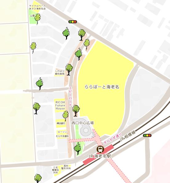 西口再開発map