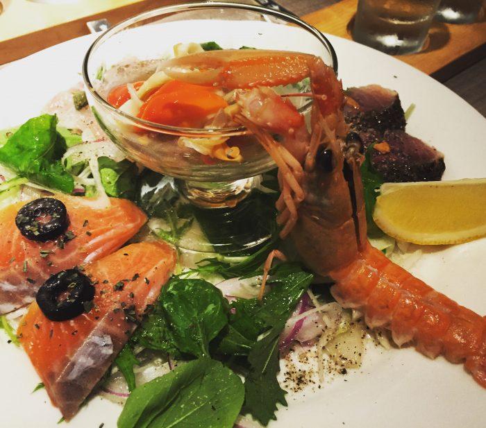 魚貝のカルパッチョ