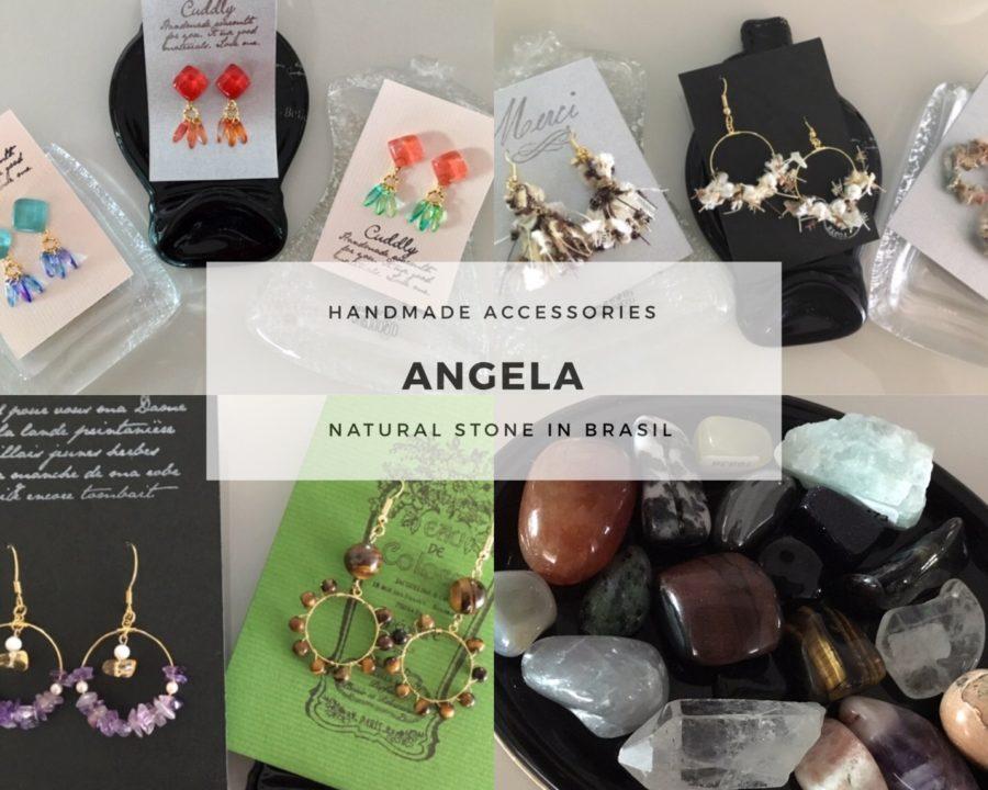 Angela 天然石やスワロフスキーを用いたアクセサリーの販売